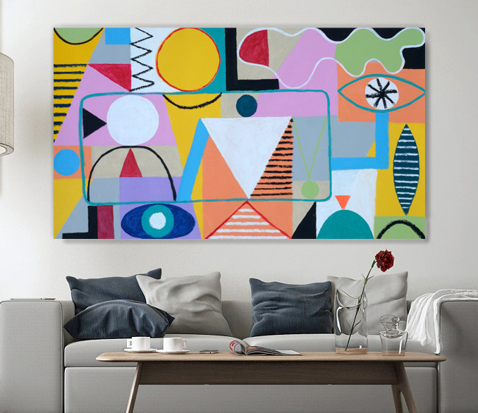large colorful abstract painting
