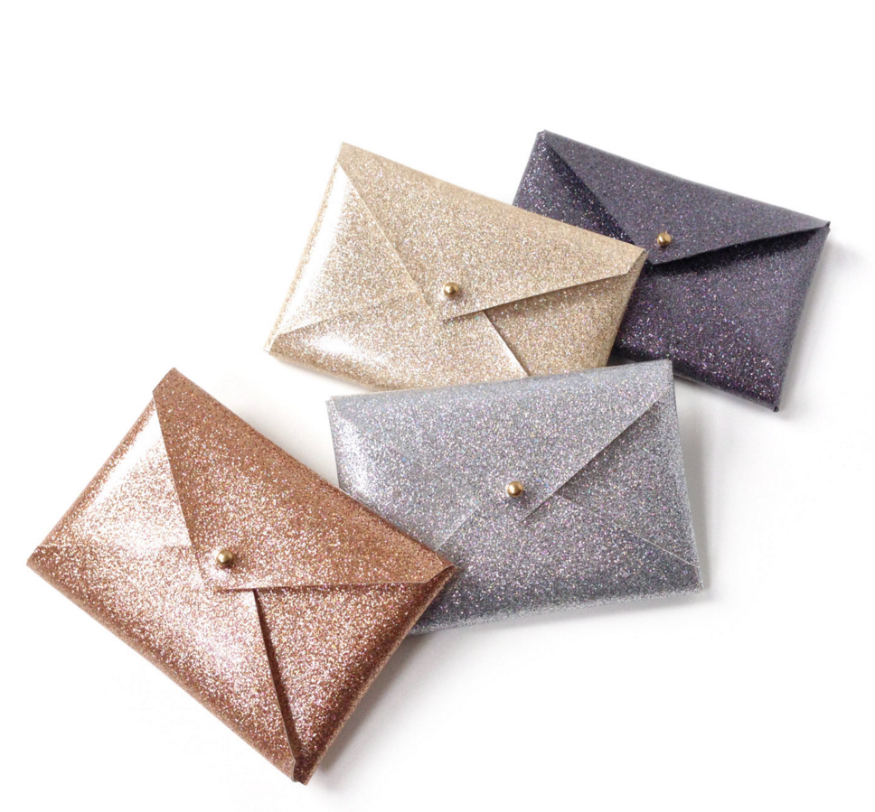 what to get mom for christmas glitter business card holders