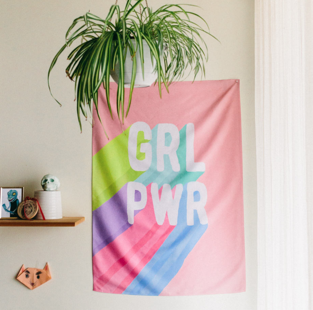 Grl Pwr Tapestry Wall