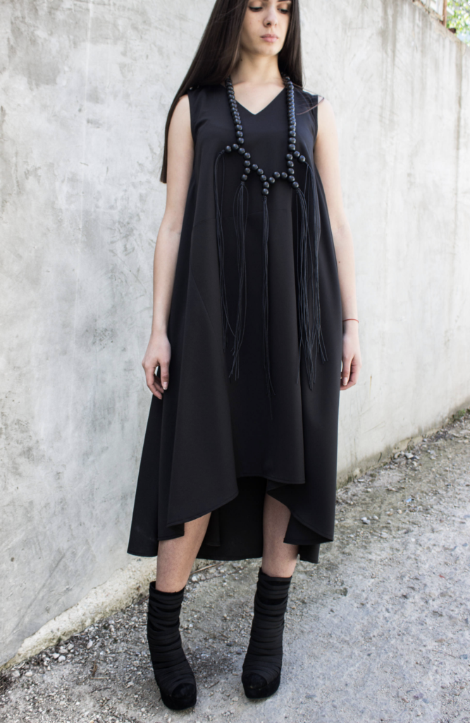 black high low dress sleeveless for summer