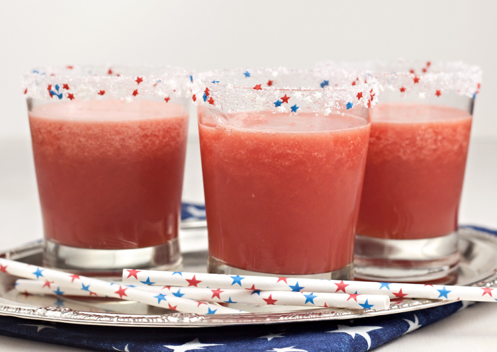 Fourth of July Cocktail Rim Red White and Blue Stars