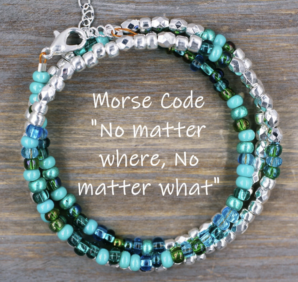Morse Code Bracelet Personalized with Message
