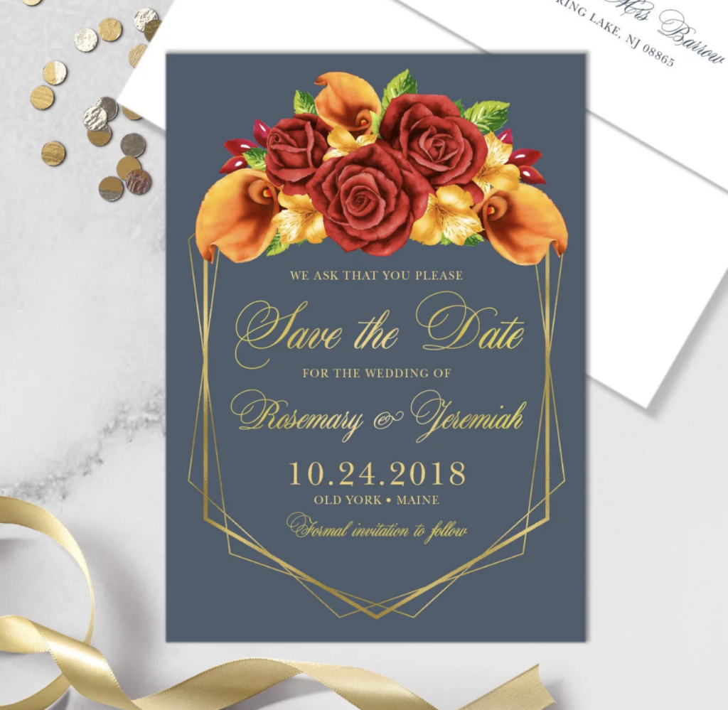 orange calla lily fall wedding invitations on etsy