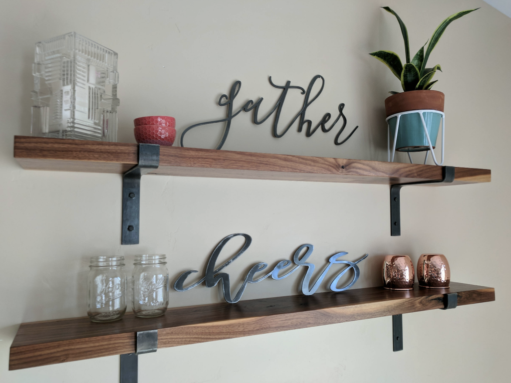 rustic shelf brackets etsy