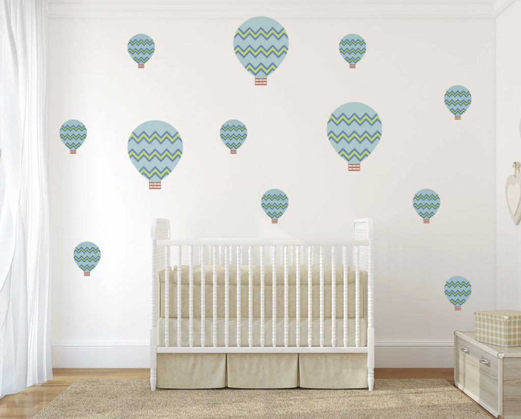 Hot Air Balloon Nursery Wall Stickers